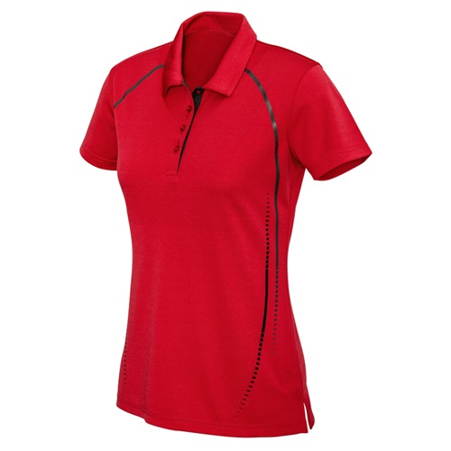 Biz Cyber Ladies Biz Cool Breathable Antibacterial Polo P604LS 3