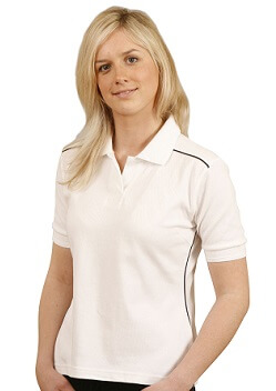 WS Cambridge Ladies Cotton Contrast Polo PS26