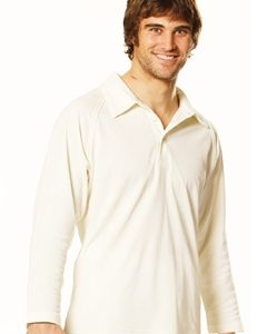 WS Cricket Mens Long Sleeve Polo PS29L