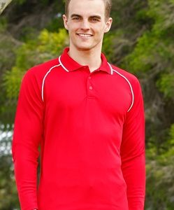 WS Champion Plus Mens CoolDry Long Sleeve Polo PS43