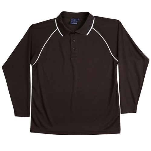 WS Champion Plus Kids CoolDry Long Sleeve Polo PS43K 4