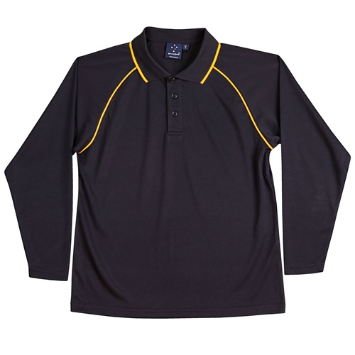 WS Champion Plus Kids CoolDry Long Sleeve Polo PS43K 5