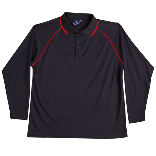 WS Champion Plus Mens CoolDry Long Sleeve Polo PS43 6