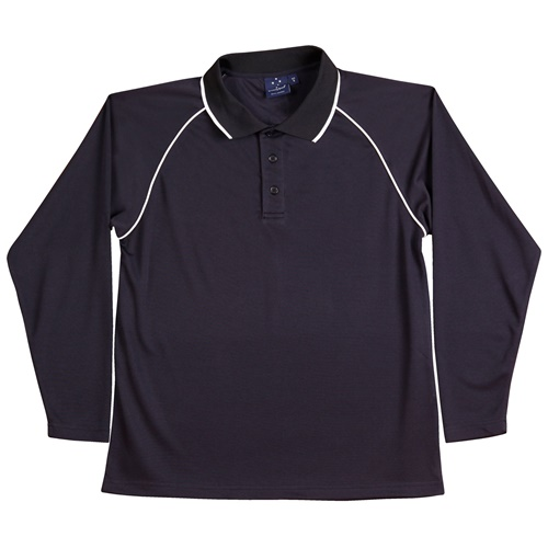 WS Champion Plus Kids CoolDry Long Sleeve Polo PS43K 7
