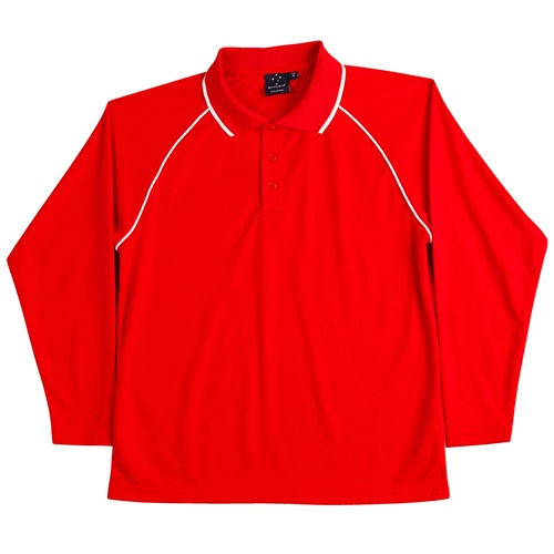 WS Champion Plus Mens CoolDry Long Sleeve Polo PS43 8