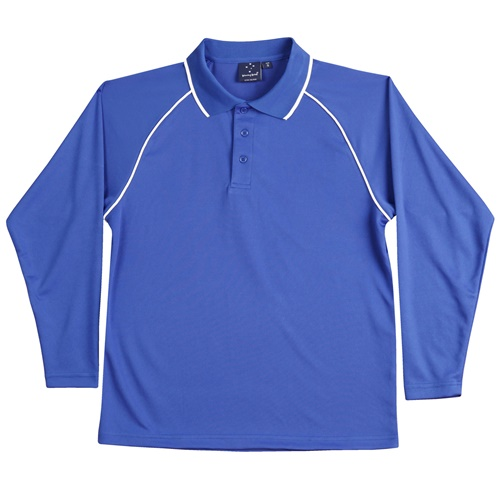 WS Champion Plus Mens CoolDry Long Sleeve Polo PS43 9