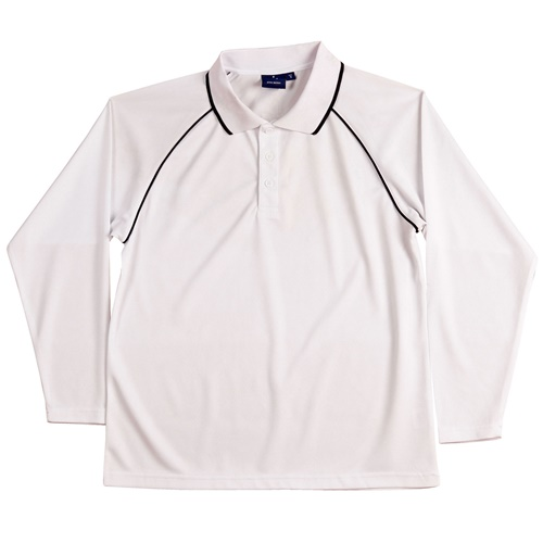 WS Champion Plus Kids CoolDry Long Sleeve Polo PS43K 10