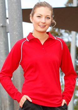 WS Champion Plus Ladies CoolDry Long Sleeve Polo PS44 1