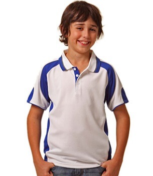 WS Alliance Kids CoolDry Contrast Polo PS61K 1