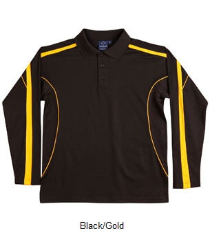 WS Legend Plus Mens TrueDry Long Sleeve Polo PS69 2