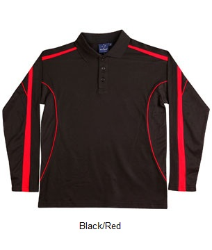 WS Legend Plus Mens TrueDry Long Sleeve Polo PS69 3
