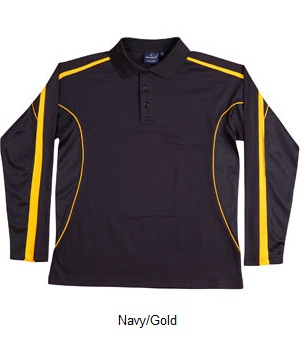 WS Legend Plus Kids TrueDry Long Sleeve Polo PS69K 5