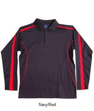 WS Legend Plus Mens TrueDry Long Sleeve Polo PS69 6