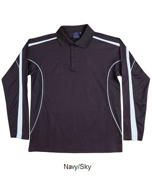 WS Legend Plus Kids TrueDry Long Sleeve Polo PS69K 7