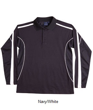WS Legend Plus Mens TrueDry Long Sleeve Polo PS69 8