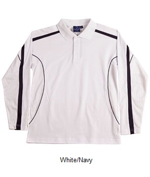 WS Legend Plus Mens TrueDry Long Sleeve Polo PS69 10