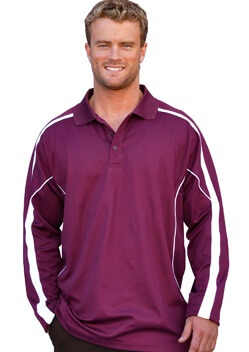 WS Legend Plus Mens TrueDry Long Sleeve Polo PS69