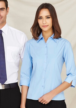 Biz Base Ladies 3/4 Sleeve Shirt S10521