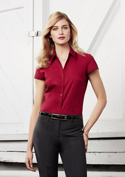 Biz Metro Ladies Cap Sleeve Shirt S119LN