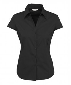 Biz Metro Ladies Cap Sleeve Shirt S119LN 4