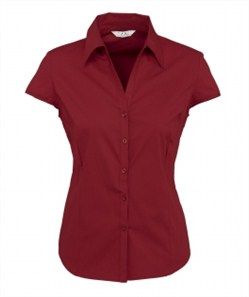 Biz Metro Ladies Cap Sleeve Shirt S119LN 2