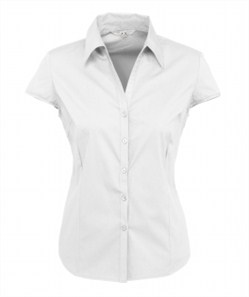 Biz Metro Ladies Cap Sleeve Shirt S119LN 3