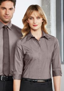 Biz Chevron Ladies 3/4 Sleeve Shirt S122LT