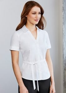 Biz Berlin Ladies Y-Line Short Sleeve Shirt S261LS