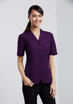 Biz Oasis Plain Ladies Overblouse S265LS 1