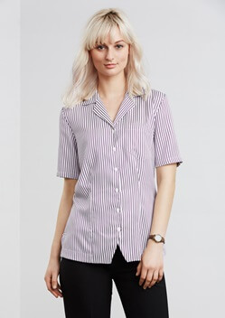 Biz Oasis Stripe Ladies Overblouse S266LS 1