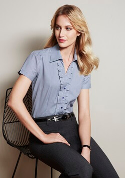 Biz Edge Ladies Short Sleeve Shirt S267LS
