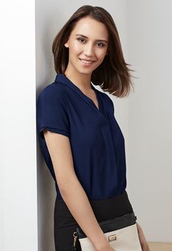 Biz Madison Ladies Short Sleeve Blouse S628LS