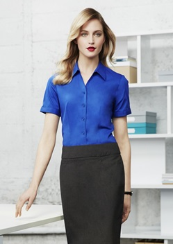 Biz Monaco Ladies Short Sleeve Stretch Shirt S770LS