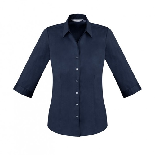 Biz Monaco Ladies 3/4 Sleeve Stretch Shirt S770LT