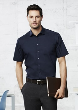 Biz Monaco Mens Short Sleeve Stretch Shirt S770MS