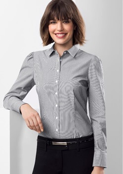 Biz Euro Ladies Long Sleeve Shirt S812LL 1