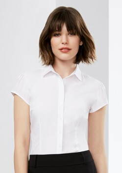 Biz Euro Ladies Short Sleeve Shirt S812LS