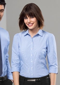 Biz Euro Ladies 3/4 Sleeve Shirt S812LT