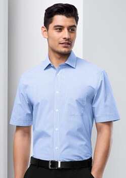 Biz Euro Mens Short Sleeve Shirt S812MS