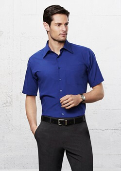 Biz Metro Mens Short Sleeve Shirt SH715 1