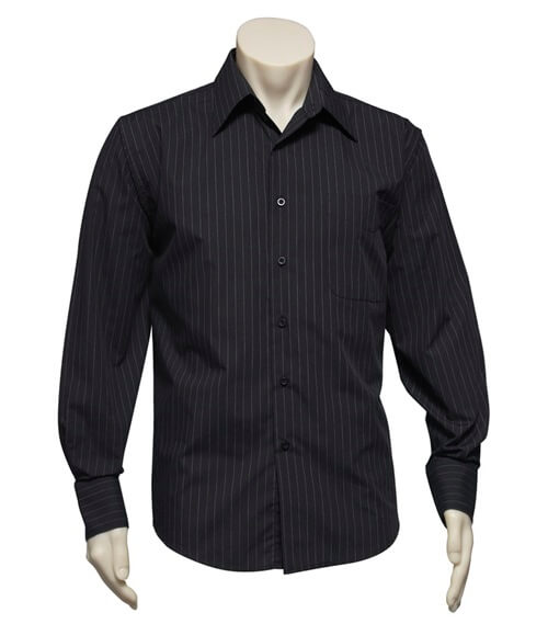 Biz Manhattan Mens Long Sleeve Pinstripe Shirt SH840