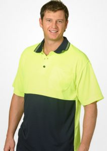 WS Hi Vis Cool Dry Mens Polo (S to 3XL) SW01CD