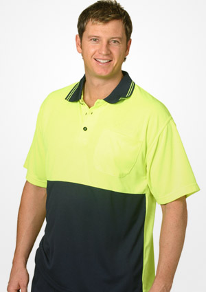 WS Hi Vis Cool Dry Mens Polo (4XL to 7XL) SW01CD-X