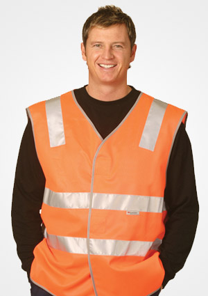 WS Hi Visibility Safety Vest with Reflective Tapes SW03