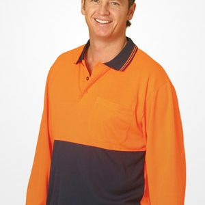 WS Hi Vis TrueDry Long Sleeve Polo (4XL to 7XL) SW05TD-X