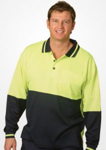 WS Safety True Dry Long Sleeve Polo (S to 3XL) SW11