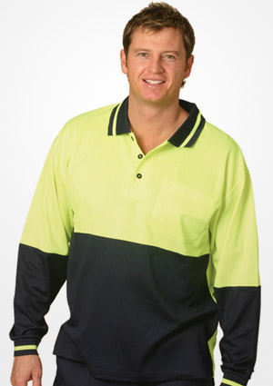 WS Safety True Dry Long Sleeve Polo (4XL to 7XL) SW11-X