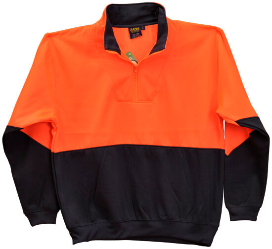 WS Hi Vis Long Sleeve Fleecy Sweat (4XL to 7XL) SW13A-X 2