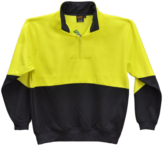 WS Hi Vis Long Sleeve Fleecy Sweat (4XL to 7XL) SW13A-X 3