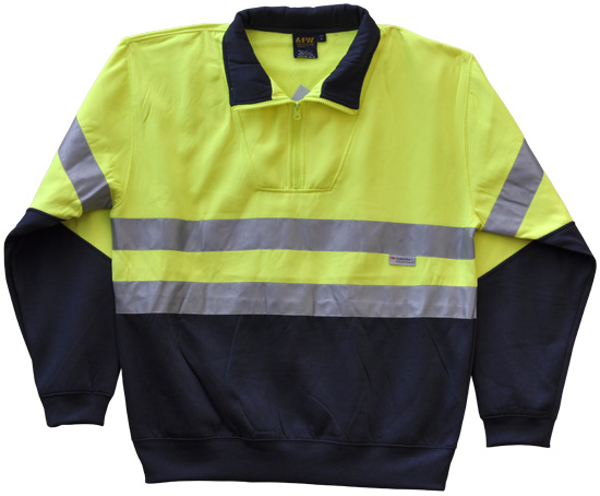 WS Hi Vis Long Sleeve Fleecy Sweat with Tape (S to 3XL) SW14 3